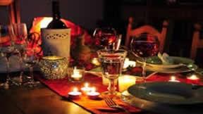 Romatisches Abendessen für zwei