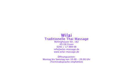 traditionelle thai massage wilai essen